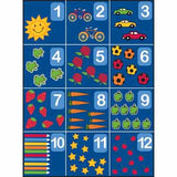"Learning Carpets 8'5"" x 11'9"" Counting Rug 1-12 - CPR862 - The Creativity Institute"