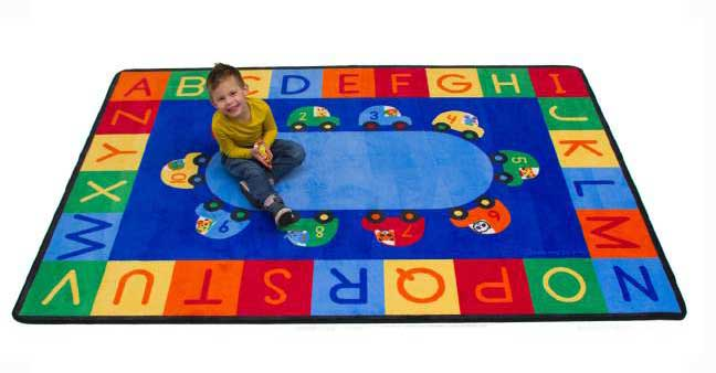 Learning Carpets Cars Alphabet & Numbers Rug - CPR887