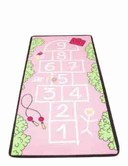 "Learning Carpets Chalk Walk Hopscotch Rug - 36"" x 79"" - LC174 - The Creativity Institute"