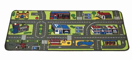 "Learning Carpets City Life (Value Size) Rug - 27"" x 60"" - LC750 - The Creativity Institute"