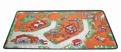 "Learning Carpets Construction Zone Rug - 36"" x 79"" - LC166"