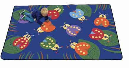 "Learning Carpets Counting with Ladybugs 5'10"" x 8'5"" Rug - CPR290 - The Creativity Institute"