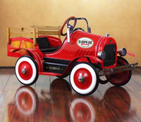 Dexton Deluxe DX-21233 Vintage Red Delivery Truck Pedal Car