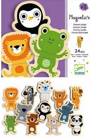 Djeco DJ03118 Coucou Jungle Magnet Set - 24pcs