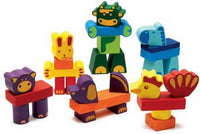 Djeco DJ06310 Creanimaux 29-Piece Farm Blocks Stacking Block Set