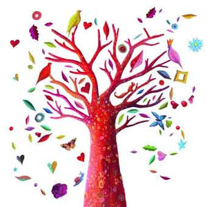 Djeco DD04510 Poem Tree Re-Positionable Wall Stickers