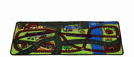 "Learning Carpets Driving In The Park Rug (Value Size) 27"" x 60"" - LC956"