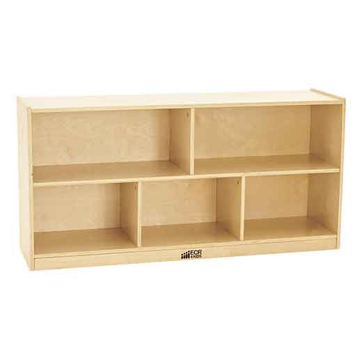 ECR4Kids Birch 5-Compartment Storage Cabinet, 24 in. H - ELR-0419