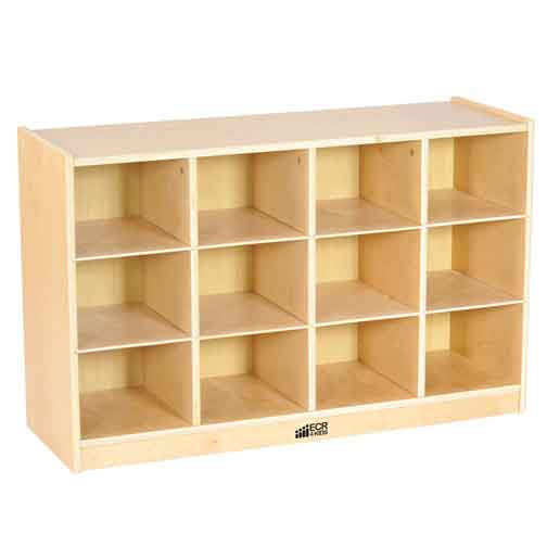 ECR4Kids Birch 12 Cubby Tray Cabinet (Unit Only) ELR-17252 - The Creativity Institute
