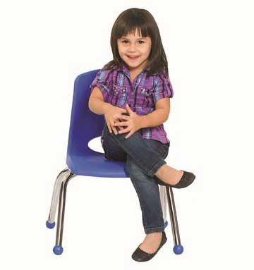 "ECR4Kids 12"" Stack Chair Set of 6 - Chrome Legs - ELR-0193"
