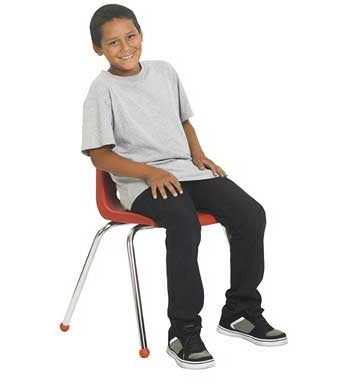 "ECR4Kids 16"" Stack Chair Set of 6 - Chrome Legs - ELR-0195"