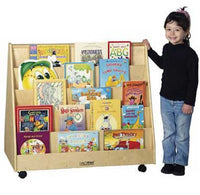 ECR4Kids ELR-0335 Birch Double-Sided Book Display