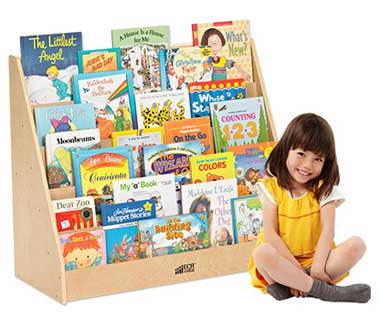 ECR4Kids Birch Single-Sided Book Display ELR-0339
