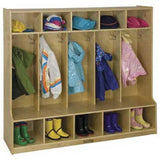 ECR4Kids ELR-0453 5-Section Coat Locker with Bench