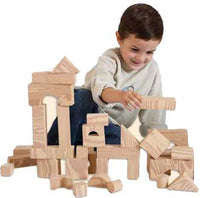 Edushape 715070 Set of 30 Wood-Like Soft Blocks Building Blocks