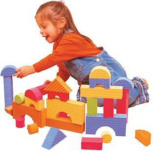 Edushape 716030 Set of 30 Textured Building Blocks