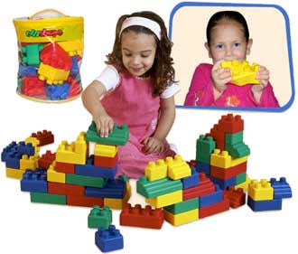 Edushape 826052 Set of 52 Mini Edublocks Building Blocks