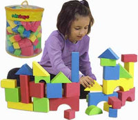 Edushape 716576 Set of 80 Educolor Blocks