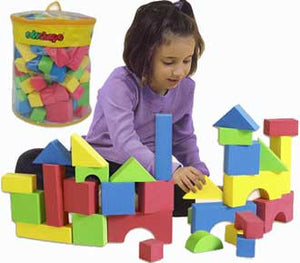 Edushape 716576 Set of 80 Educolor Blocks - The Creativity Institute