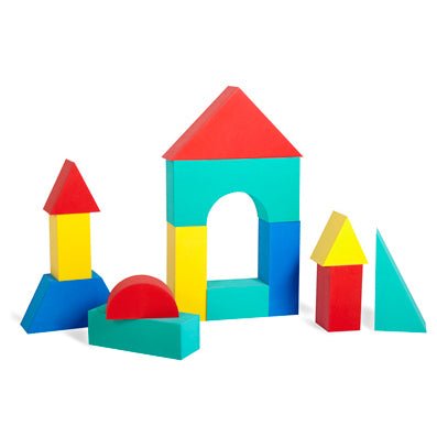 "Edushape 700145 Giant Blocks 16-Piece Set of 4 1/3"" Thick Soft Blocks"
