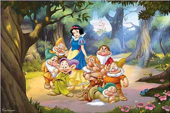 Fathead 74 74548 Snow White And The Seven Dwarfs Mural Part 77