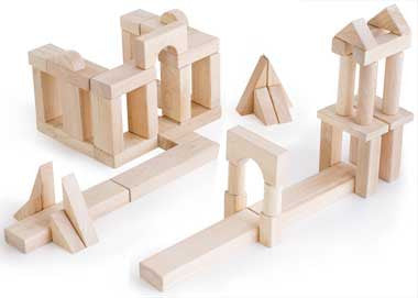 Guidecraft G2111B Unit Blocks Set B - 56 Piece Set