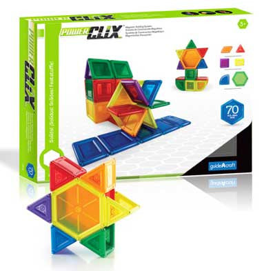 Guidecraft G9422 PowerClix Solids - 70 Piece Set