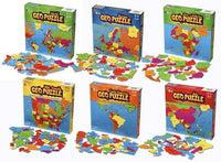GEO Toys GeoPuzzle World Plus Continents 6 Puzzle Set - The Creativity Institute