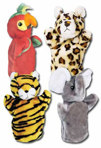 Get Ready Kids 9008 PlushPups Puppets Zoo Set #2 - The Creativity Institute