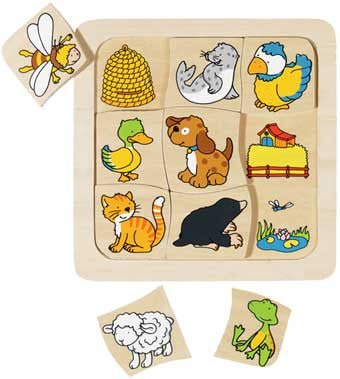 Get Ready Kids 2042 Where Do I Live? Wooden Puzzle
