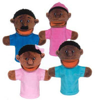 Get Ready Kids 360 4 African-American Family Moving-Mouth Puppets - The Creativity Institute