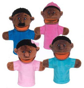 Get Ready Kids 360 4 African-American Family Moving-Mouth Puppets