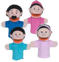 Get Ready Kids 370 Set of 4 Hispanic Family Moving-Mouth Puppets - The Creativity Institute