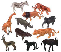 Get Ready Kids 871 Zoo Jungle Animal Set- 11 Pieces