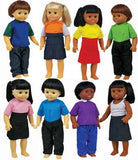 Get Ready Kids Set of 8 Multicultural Dolls - 639