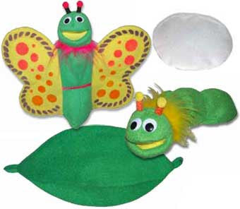 Get Ready Kids Life Cycle of a Butterfly Puppet Show Set - 507