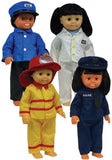 Get Ready Kids Multicultural Doll Clothes - 4 Career Outfits