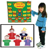 Get Ready Kids Feelings 801 Wall Chart and 420 Puppets - Caucasian