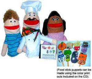 "Get Ready Kids 503 ""Making Healthy Choices"" Puppets & Recorded Scripts - The Creativity Institute"
