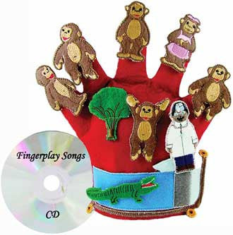 "Get Ready Kids 741 ""Monkeys Jumping on the Bed"" Story Glove Puppet"