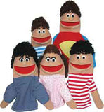 "Get Ready Kids ""No Bullies Needed"" Puppet Set with Prerecorded Scripts - MIXED SKIN TONES 502-M"