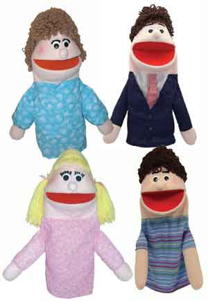 Get Ready Kids Family of Four Puppets