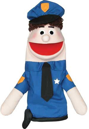 Get Ready Kids 435C Police Officer Puppet - Caucasian