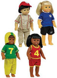 Get Ready Kids Multicultural Doll Clothes - 4 Sports Outfits