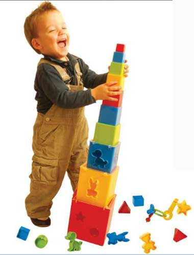 Gowi Toys Austria Stack and Sort Tower 453-28
