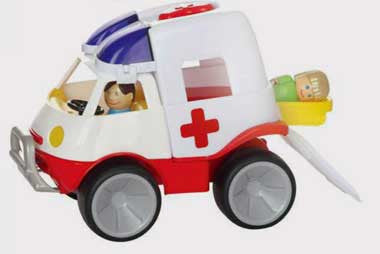 Gowi Toys EMS Ambulance Emergency Vehicle - 560-31