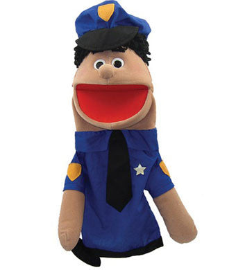 Get Ready Kids 435H Police Officer Puppet - Hispanic - The Creativity Institute