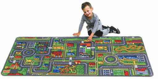 "Learning Carpets Giant Road Map Rug 36"" x 79"" - LC719"
