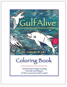 "The Banana Plant ""GulfAlive"" Coloring Book - The Creativity Institute"