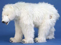 Hansa 4446 Polar Bear Cub on All Fours Plush Stuffed Animal